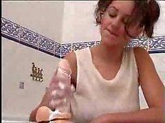 British babe vicki powel in bath with dildo