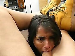 Very Dirty Brunette Sucking Dick In Office Point Of View