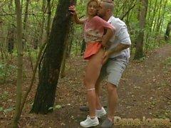 Dane Jones Naughty blonde gets ass eaten in secret outdoor blowjob and fuck