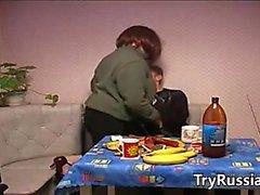 Young Guy Bangs A Horny Russian Woman