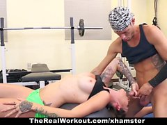 TheRealWorkout - Tatted Up Trainer Slut Fucks Her Client