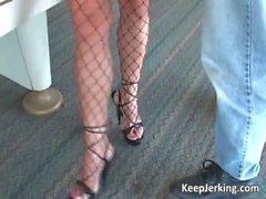 Hot slut in stockings got hardly banged