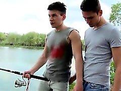 Haarlos Teen Paar Homosexuell Sex hat Fischerei auf Arsch ficken !