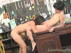 Store owner gets to fuck a hot milf