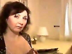 Mature Woman Teasing Her Body
