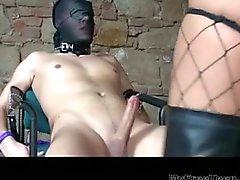 Sluty German Babe In Latex Fucking Her Boyfriend