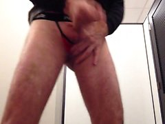 Masturbating in the dressingroom of Macy
