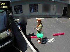 Desperate ginger cocksucking towtruck driver