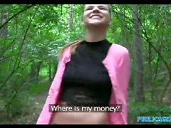 PublicAgent American slut talks dirty fucking outdoors in Prague