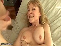 My Hot Step Aunt Caught Me Jerking Off -
