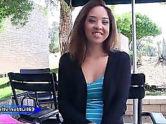 Mila _ Amateur babe flashing her boobs and pussy in public