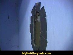 Gorgeous ebony gloryhole blowjob 3