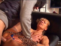 Amateur french mature hard banged n jizzed on ass