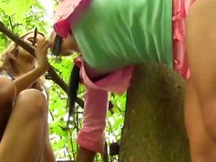 Sweet girls try out a new dildo