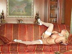 Glamorous Lesbians w/ Strap-On Dildo