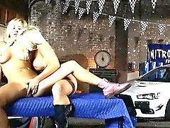 Big tits blonde babes Tasha Reign and Jesse Jane lesbosex