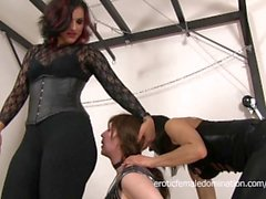 Sissy Dominated By Two Rough Mistresses