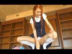 Tyttö 18 nuorten sukkahousut kuulostavat uretraali pumppaus teini 82