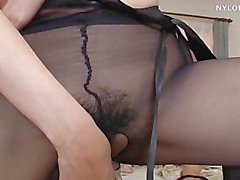 fetish maid nylon stockings please boss