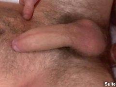Brunett gullig glad Girth Bäckar få anally smällde samt cock jizzed