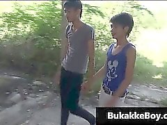 Homosexuell Asiaten in Dreier Porno Video