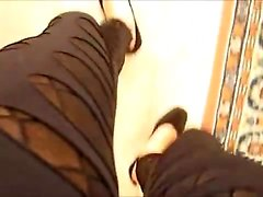 Dual tights crossdresser that is black