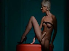 Luxury woman masturbating in pantyhose