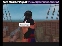 Girl Is Fcuked In A Pirate Boat