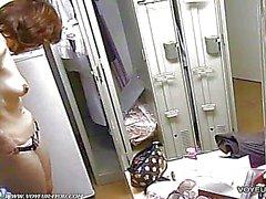 spying nude girls in locker room