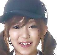 Miku Airi Asiatisk skol blåser in stor kuk
