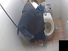 Uniforme chica caliente Curioso WC Masturbación