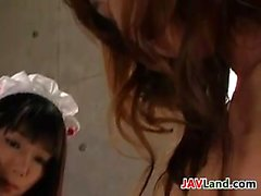 Japanese Maid Dominated By A Lesbian