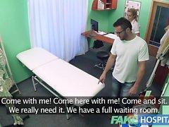 Fake Hospital Hired handyman cums all over nurses bum