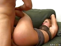 Heavy chested blonde momma with pierced nipples loves rough sex