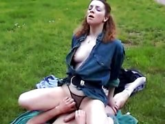 French Amateur Wife Takes Cock Outdoor