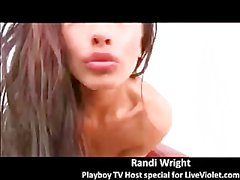 Playboy TV pornstar Randi Wright gets facial show