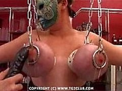 BDSM.puncture núcleo duro da chest.punishment