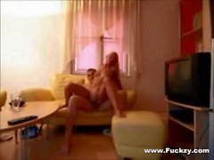 Real Amateur Blonde Slut Fucks Older Man