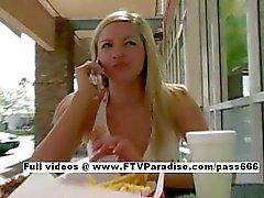 Kylee funny beautiful babe public flashing