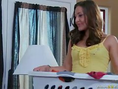 Bisexual MILF Kayla Carrera shares a girl with her hubby