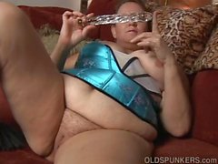 Kinky old spunker in sexy lingerie wants you to fuck her