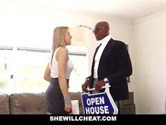 SheWillCheat - Sexy Blonde Girlfriend Fucks BBC For Cuckold Boyfriend