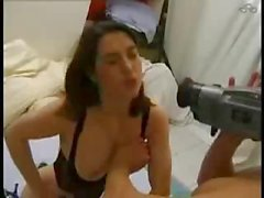 Dude filming his girl going down on him and fucking both holes