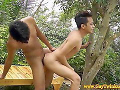 Asian dudes kissing and fucking like pussies HD