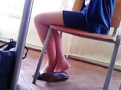 Candid Stunning Teen Shoeplay Feet in Nylons pt 3