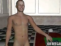 Two 3D babe fucked by James Bond