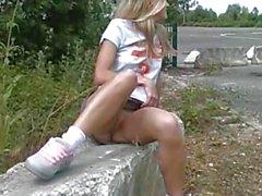 Flashing and outdoor play before masturbating