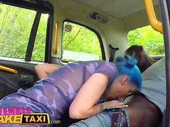 Female Fake Taxi Sexy emo chick in anal cab fuck