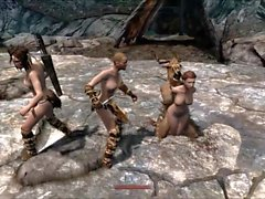 Elisif nude and helpless in Skyrim pt6