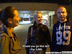 Beautiful Czech Pair Gets Money for GF Exchange